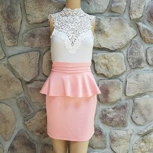 💜 Charlotte Russe Lace High Neck Dress